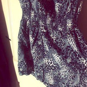 Leopard print romper